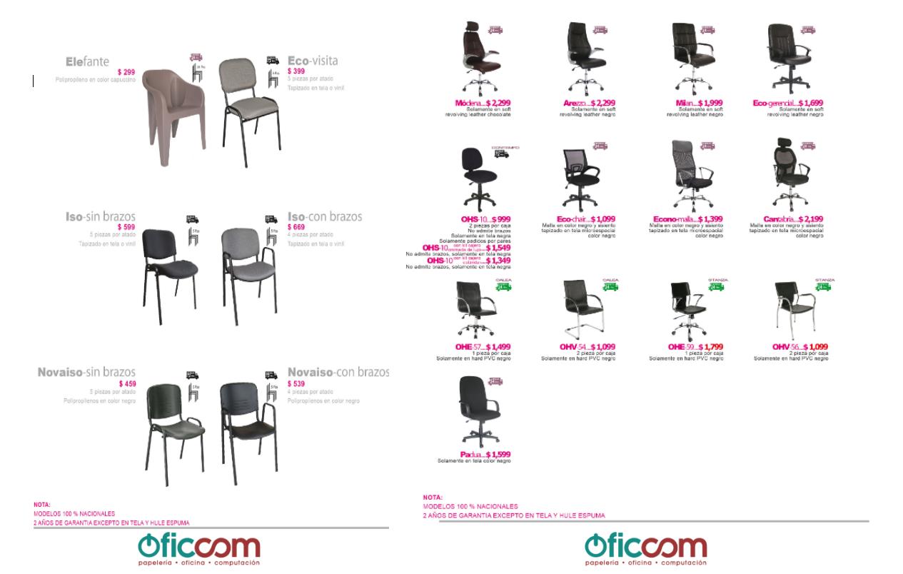 Catalogo de sillas mobiliario muebles de oficina sillas for Catalogo mobiliario oficina